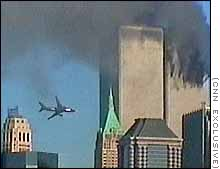 Amateur video captures the second plane moments before it slammed into the WTC