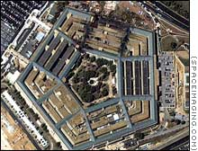 Rare overhead glimpse of damage to Pentagon.