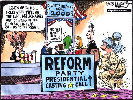 Reform party presidential casting call
