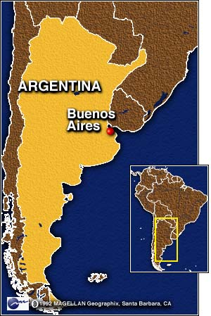 CNN AntiPeronist Claims Victory In Argentina Presidential - Argentina election map