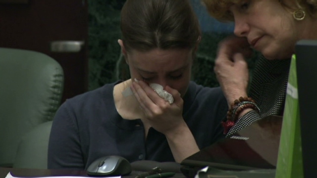 casey anthony photos hot. Anthony cries during forensics